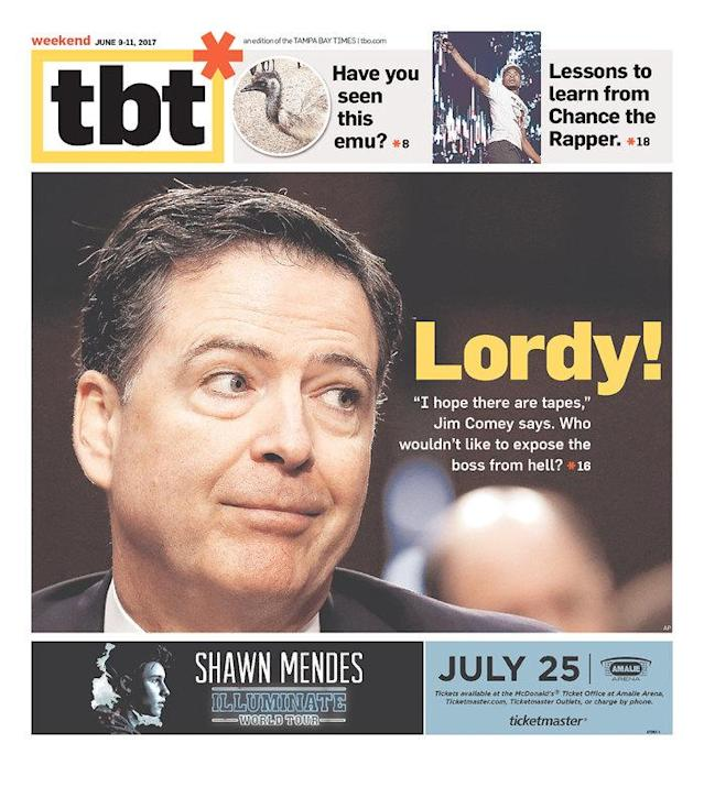"<p>""TBT*,"" published in St. Petersburg, Fla. (Newseum) </p>"