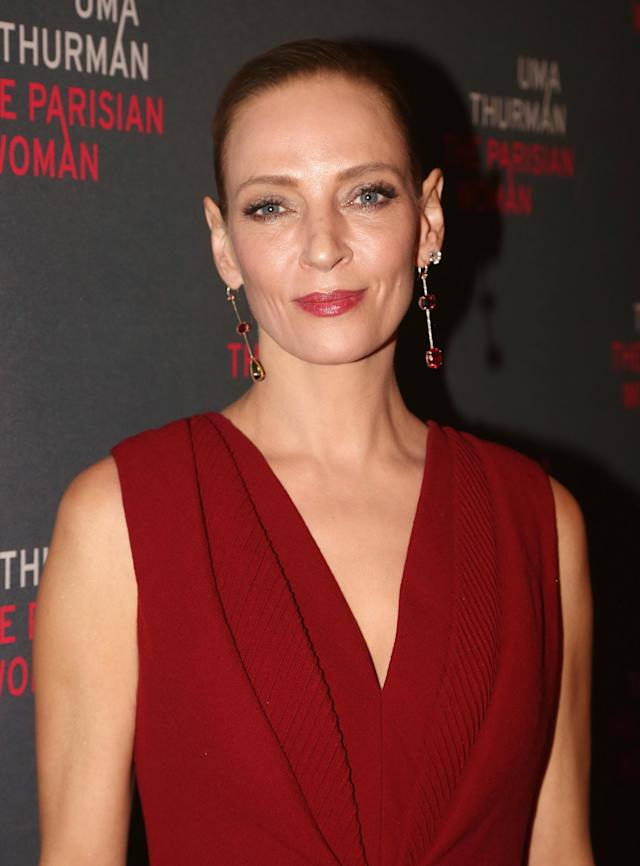 Uma Thurman has expressed guilt at not speaking up sooner about Harvey Weinstein. (Photo: Getty Images)