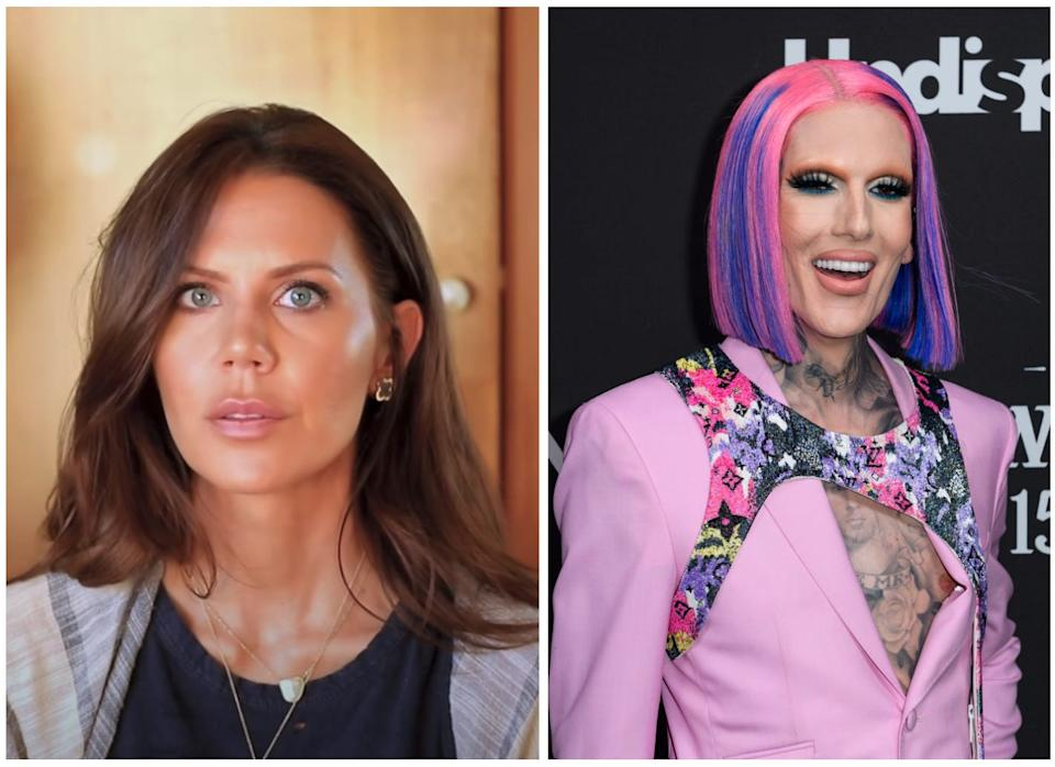 Tati Westbrook (left) has claimed that Jeffree Star is a co-owner of Morphe Cosmetics, and that it played a role in allegedly stirring up a feud between Westbrook and James Charles.