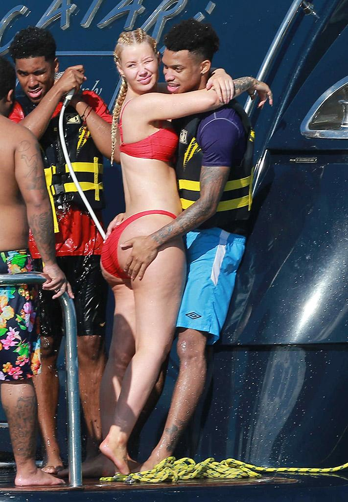 After A Jetski Ride Together Iggy Azalea And Tk Cozied Up Aboard Their Yacht