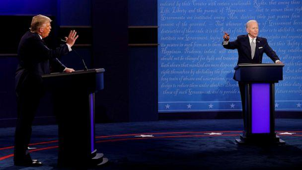 FILE PHOTO: U.S. President Donald Trump and Democratic presidential nominee Joe Biden participate in their first 2020 presidential debate held on the campus of the Cleveland Clinic at Case Western Reserve University in Cleveland, September 29, 2020. (Brian Snyder/Reuters)