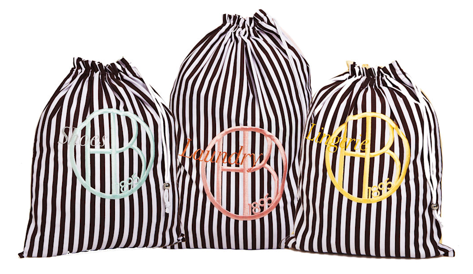 "<p>Whether she still comes home from college with her dirty laundry or she's about to graduate and enter the Real World, this striped laundry set will make the weekly chore much more glamorous. <b><a href=""http://www.henribendel.com/henri-bendel-laundry-set-27822263660193.html?cgid=shop_accessories_cosmetic_bags-2&start=54"" rel=""nofollow noopener"" target=""_blank"" data-ylk=""slk:Henri Bendel Laundry Set"" class=""link rapid-noclick-resp"">Henri Bendel Laundry Set</a> ($58)</b><br></p>"