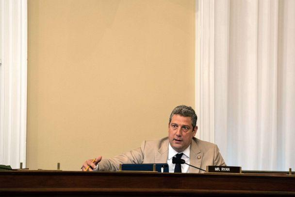 PHOTO: Rep. Tim Ryan (D-OH) speaks at a hearing with the Subcommittee on Military Construction, Veterans Affairs, and Related Agencies on Capitol Hill, May 28th, 2020. (Anna Moneymaker/POOL/AFP via Getty Images)