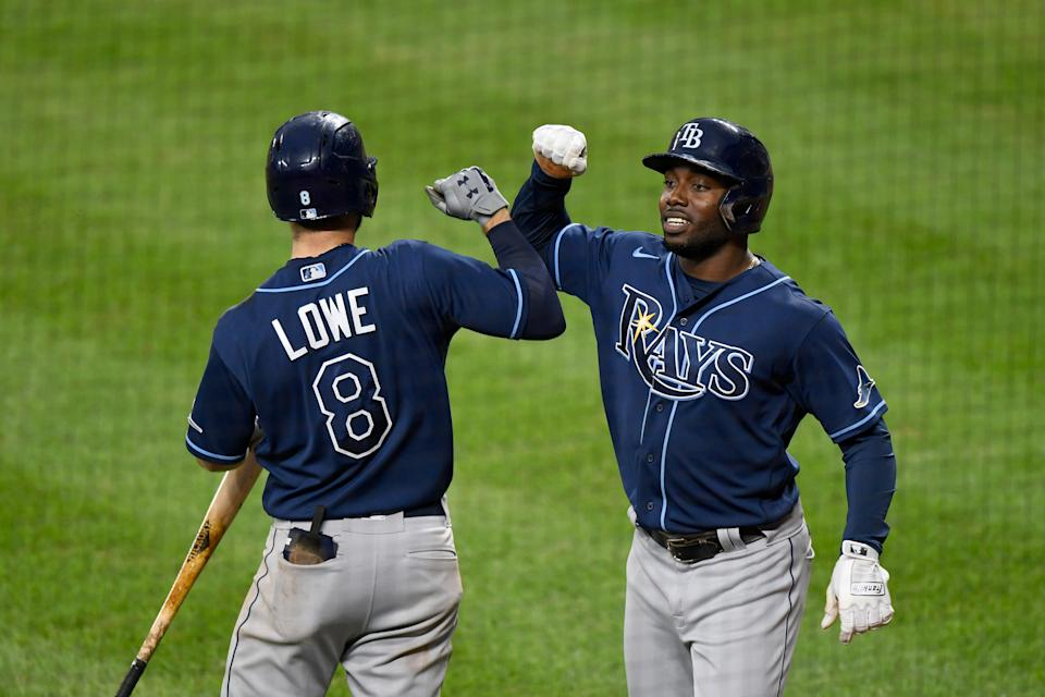 Tampa Bay Rays clinch their first AL East title since 2010. (Photo by G Fiume/Getty Images)
