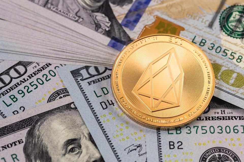 Crypto asset EOS is surging.   Source: Shutterstock