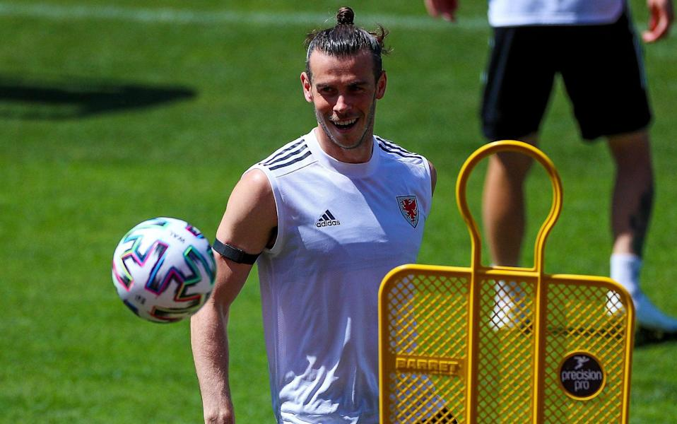 Gareth Bale in training on Tuesday - GETTY IMAGES