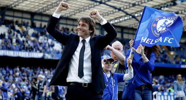 Conte won the Premier League in his first season with the Blues. (Reuters)