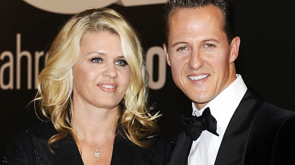 Seen here, Corrina and Michael Schumacher at the GQ Men Of The Year awards in 2010.