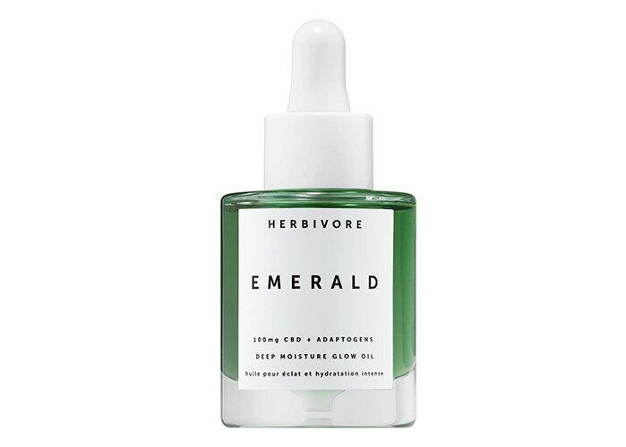 Herbivore Emerald CBD + Adaptogens Deep Moisture Glow Oil. (Photo: Sephora)