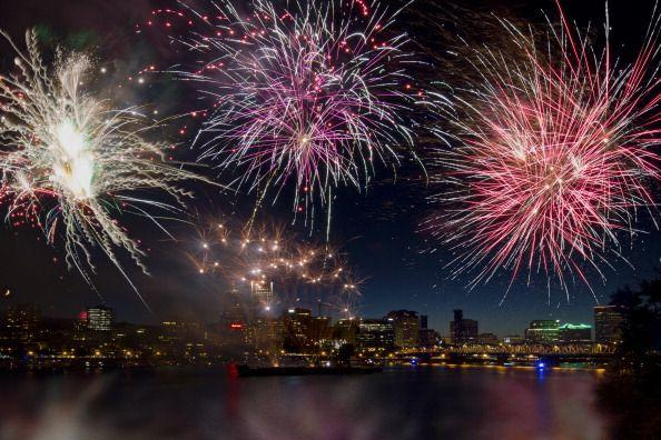"""<p><strong>Portland, Oregon</strong></p><p>Enjoy the 4th of July with fireworks along Portland's <a href=""""https://www.travelportland.com/events/fourth-of-july/"""" rel=""""nofollow noopener"""" target=""""_blank"""" data-ylk=""""slk:Willamette River"""" class=""""link rapid-noclick-resp"""">Willamette River</a>. View the waterfront display above the downtown city skyline and Hawthorne Bridge.<br></p>"""