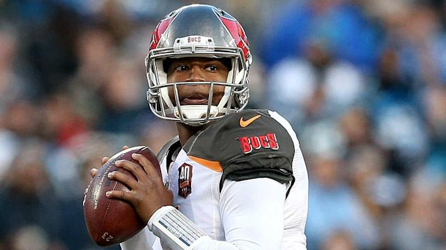 Doctors re-examined Winston's injured right shoulder Monday and didn't clear him to resume throwing.