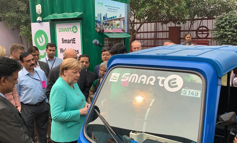 Merkel wants Germany to have one million electric car charging points by 2030