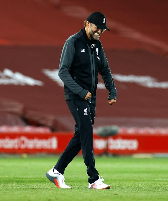 Jurgen Klopp regretted an empty stadium for such a performance (Phil Noble/NMC Pool/PA)