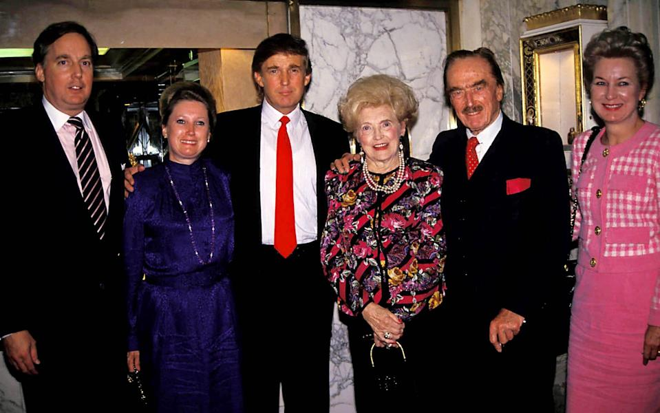 Donald Trump with his mother and father Mary Anne Trump and Fred Trump, in 1992 - Shutterstock