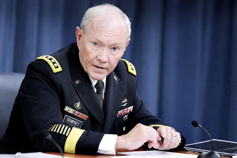 Joint Chiefs of Staff Chairman General Martin Dempsey speaks to the press during a news conference at the Pentagon on September 26, 2014 (AFP Photo/T.J. Kirkpatrick)