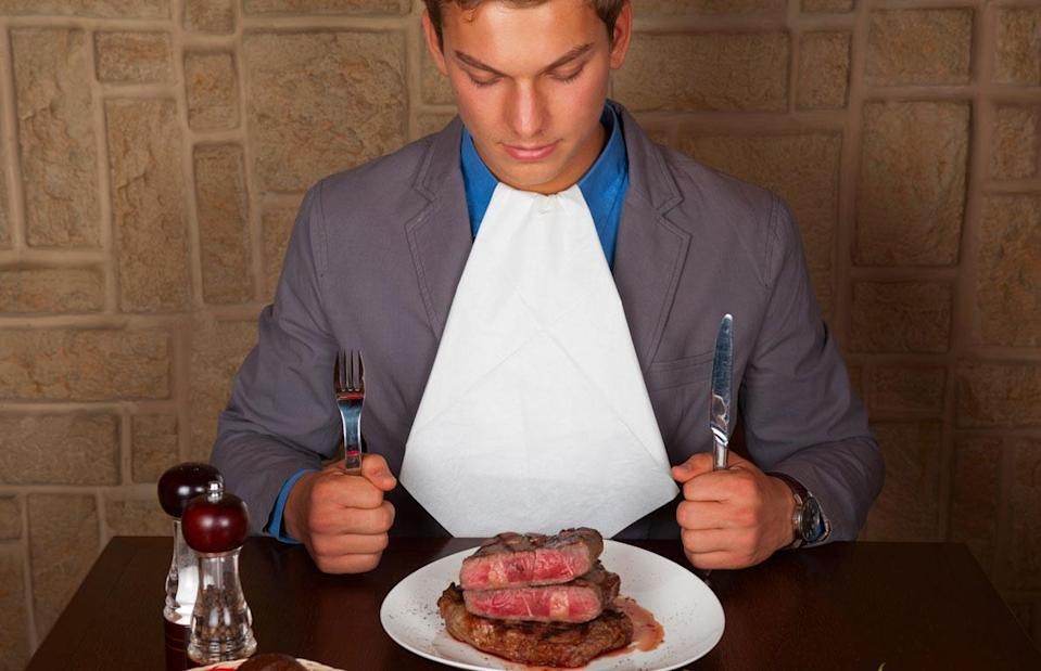 "<p>Well-marbled steaks contain a lot of fat, and with the addition of butter and other cooking oils, the calorie count of a steakhouse dinner could be high. For example, a 12-ounce slow-roasted prime rib from Outback Steakhouse has 1,050 calories and has 86 grams of fat, and that's without any sides. Even if you order something like couscous, some better-for-you restaurant sides <a href=""https://www.thedailymeal.com/healthy-eating/misleading-healthy-foods?referrer=yahoo&category=beauty_food&include_utm=1&utm_medium=referral&utm_source=yahoo&utm_campaign=feed"" rel=""nofollow noopener"" target=""_blank"" data-ylk=""slk:aren't as healthy as you think"" class=""link rapid-noclick-resp"">aren't as healthy as you think</a>.</p>"