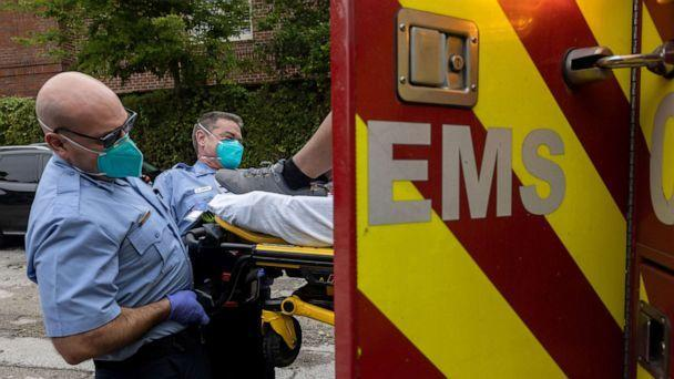 PHOTO: Houston Fire Department paramedics transport a man suffering from breathing difficulties to a hospital, Sept. 14, 2021, in Houston, Texas. (John Moore/Getty Images)