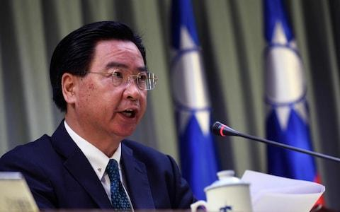 Joseph Wu, Taiwan's foreign minister, has accused China of dollar diplomacy - Credit: Sam Yeh/AFP
