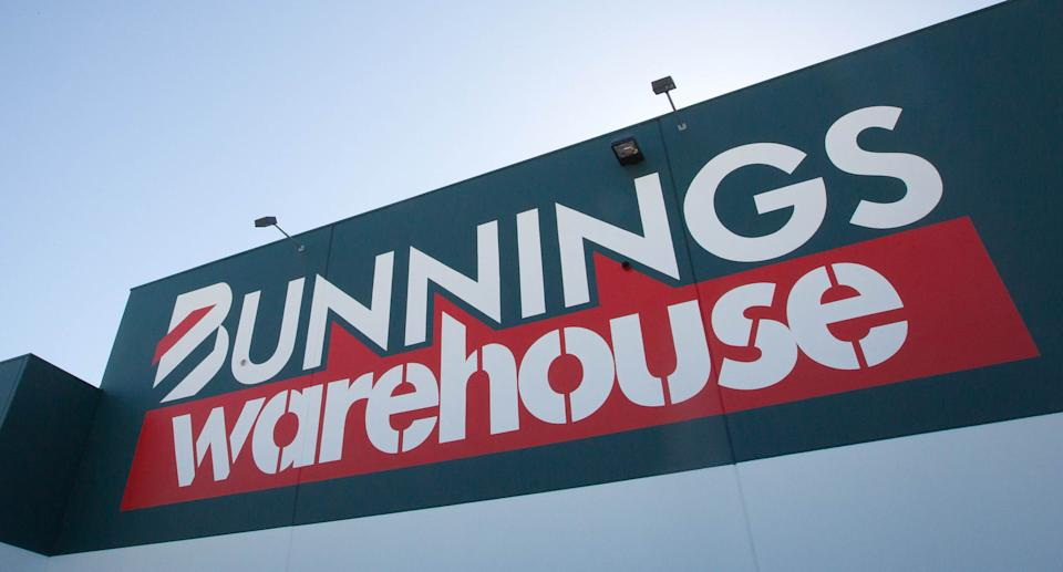 The logo of Wesfarmers Ltd.'s Bunnings Warehouse is displayed at a store in Sydney, Australia, on Thursday, July 28, 2011. Source: Getty Images