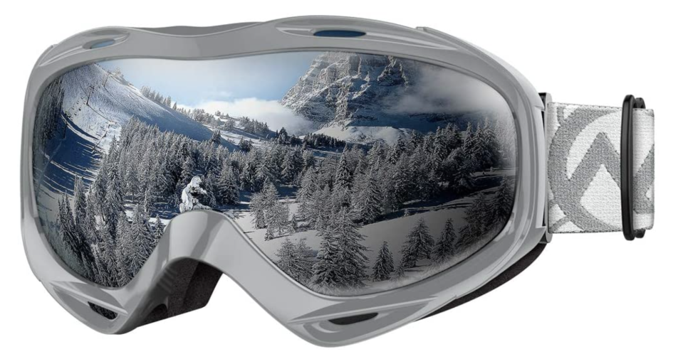 Save big on these sporty googles—they'll fit over your real glasses, and they won't fog up. (Photo: Amazon)