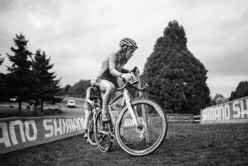Brenna Wrye-Simpson racing with Team S&M in cyclo-cross