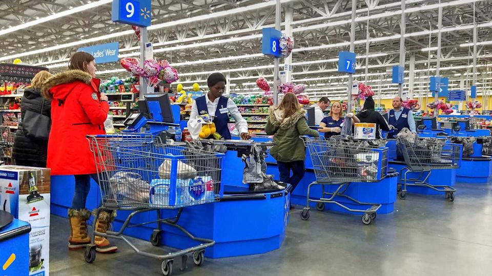 Walmart check out lines