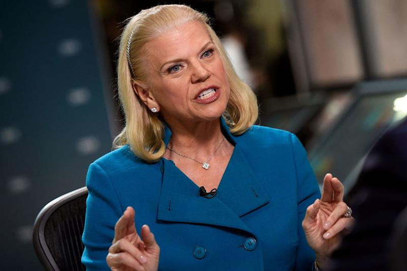 IBM beats profit estimate but revenue falls for 21st straight quarter