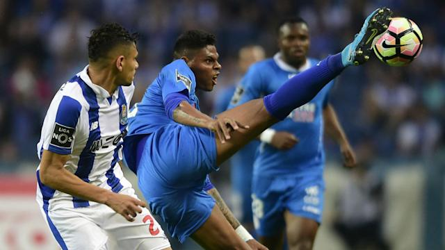 The Portuguese Primeira Liga clash saw the former Nautico centre back unwittingly put the ball beyond his own goalkeeper
