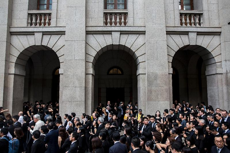 Thousands of legal professionals marched on the Central Government Offices in Hong Kong to protest against a proposed extradition law