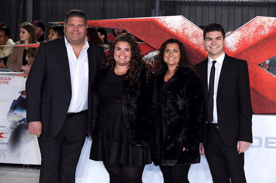 The Tapper Family (Jonathan, Nikki, Josh and Amy) from Googlebox attending the xXx: Return of Xander Cage Premiere at the O2 Cineworld, London