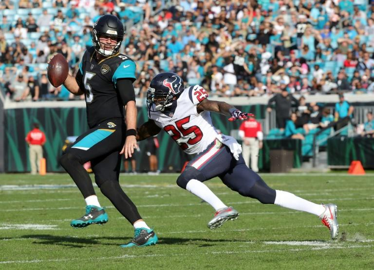 Jaguars quarterback Blake Bortles passed for three touchdowns in the first half on the way to thumping the Houston Texans 45-7