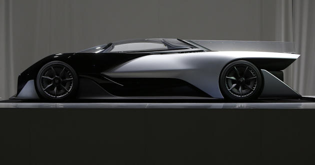 The Faraday Future FFZERO1 concept vehicle. (Bizuayehu Tesfaye/ AP Images for Faraday Future)