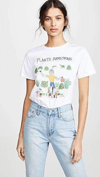 "<h2>Plants Armstrong T-Shirt</h2><br>This casual tee brings cheeky fun to an everyday wardrobe staple that they can cherish for the rest of their vegan lives. <br><br><strong><em><a href=""https://www.shopbop.com/unfortunate-portrait/br/v=1/49717.htm"" rel=""nofollow noopener"" target=""_blank"" data-ylk=""slk:Shop Shopbop"" class=""link rapid-noclick-resp"">Shop Shopbop</a></em></strong> <br><br><strong>Unfortunate Portrait</strong> Plants Armstrong T-Shirt, $, available at <a href=""https://go.skimresources.com/?id=30283X879131&url=https%3A%2F%2Fwww.shopbop.com%2Fplants-armstrong-tee-unfortunate-portrait%2Fvp%2Fv%3D1%2F1514866130.htm%3F"" rel=""nofollow noopener"" target=""_blank"" data-ylk=""slk:Shopbop"" class=""link rapid-noclick-resp"">Shopbop</a>"