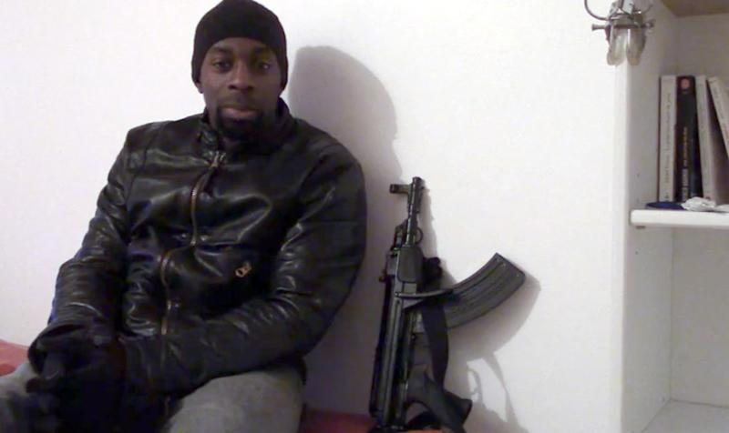 Screengrab taken on January 11, 2015 from a video released on Islamist social networks shows a man claiming to be Amedy Coulibaly, who killed four hostages after seizing a Kosher supermarket in Paris on January 9, 2015
