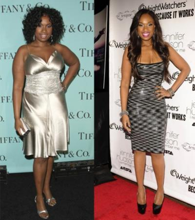 The singer/actress and Weight Watchers spokeswoman shrank from a size 16 to a size 4. The star says that while she's still adjusting to her new body, she looks and feels 10 years younger. Photo by: Jon Kopaloff/FilmMagic, Johnny Nunez/WireImage