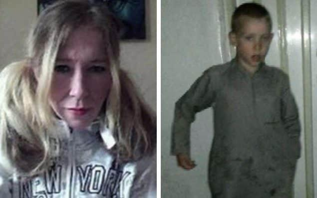 Sally-Anne Jones reportedly died in a strike thought to have also killed her son Jojo Dixon, pictured in 2016 in clothing worn by the child soldiers of the so-called Islamic State
