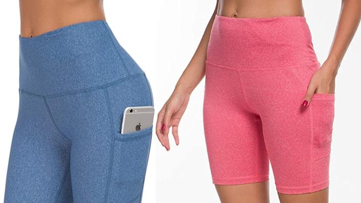 Custer's Night High Waist Out Pocket Yoga Pants Tummy Control Workout Running - Amazon, from $55