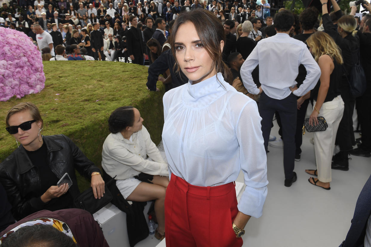 Victoria Beckham's tendrils demonstrate that the style is Fashion Week-approved [Photo: Getty]