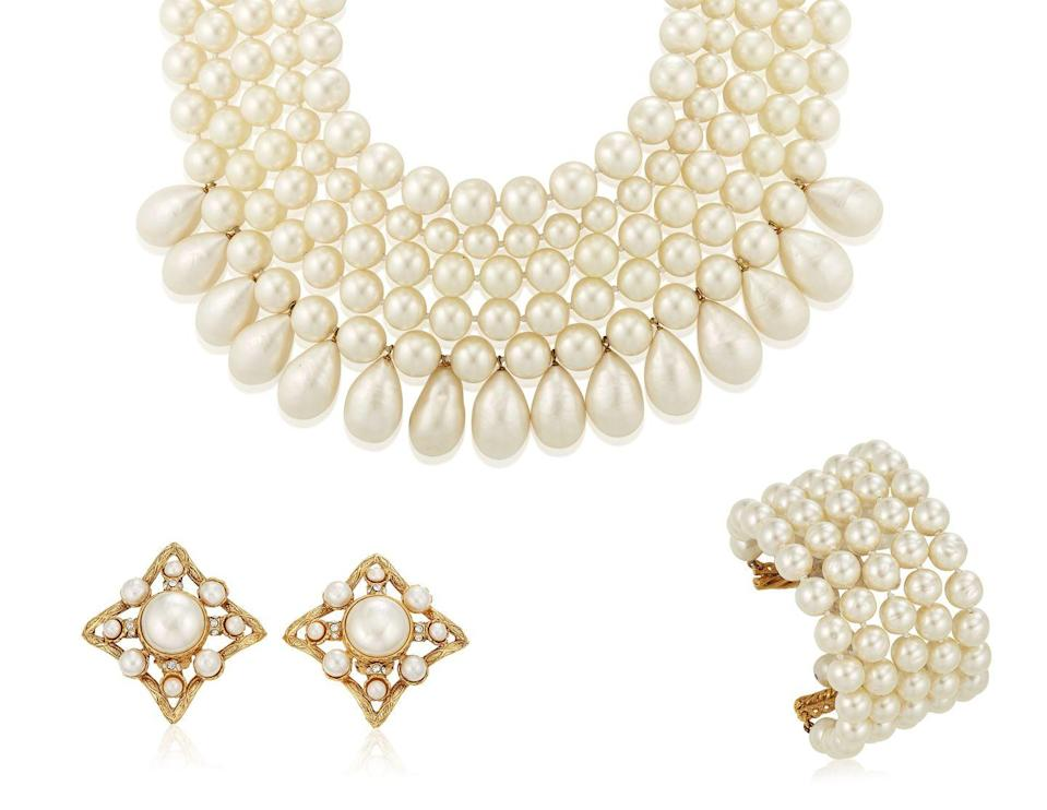 <p>This darling set that feels like pieces Coco Chanel would have worn for any occasion is estimated to be worth $3,600 to $5,800.</p>