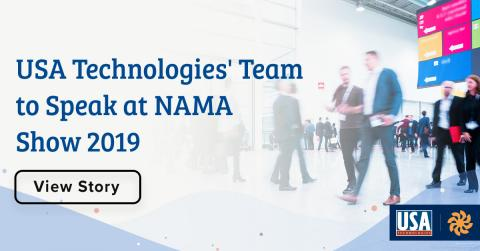 USA Technologies' Maeve McKenna Duska, Jim Turner, Anant Agrawal and Elyssa Steiner to Speak at NAMA Show 2019