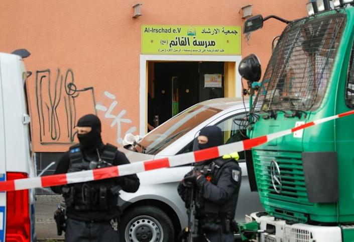 Interior Minister Horst Seehofer banned all activities of Lebanon's Iran-backed Hezbollah movement in Germany, with police raiding on mosques and other places in Berlin and other cities. (AFP Photo/Odd ANDERSEN)