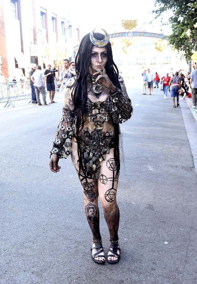 <p>A cosplayer dressed as the Enchantress at Comic-Con International on July 20, 2018, in San Diego. (Photo: Vivien Killilea/Getty Images) </p>