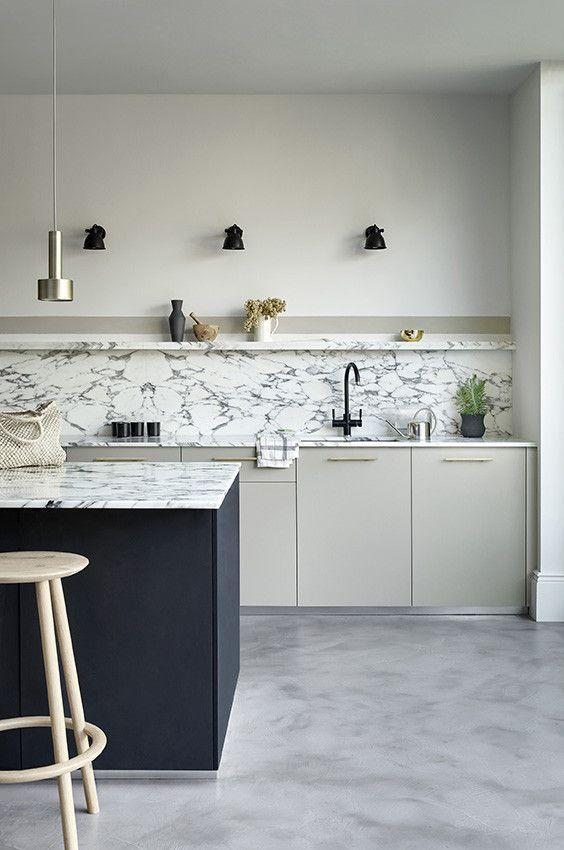 """<p>A white palette stretches from a clean pure white to a grey-toned off-white. The latter is a great choice for kitchens that use a lot of black, where pure white would create a modern monochromatic design scheme, an off-white creates a softer and warmer environment.</p><p>Pictured: <a href=""""https://www.paintandpaperlibrary.com/catalog/product/view/id/38329/category/187/"""" rel=""""nofollow noopener"""" target=""""_blank"""" data-ylk=""""slk:Minim at Paint & Paper Library"""" class=""""link rapid-noclick-resp"""">Minim at Paint & Paper Library</a></p>"""