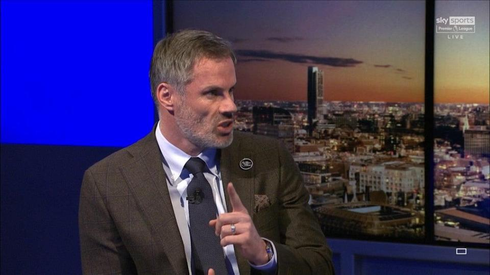 Jamie Carragher speaking on Sky Sports' Monday Night Football (Sky Sports)
