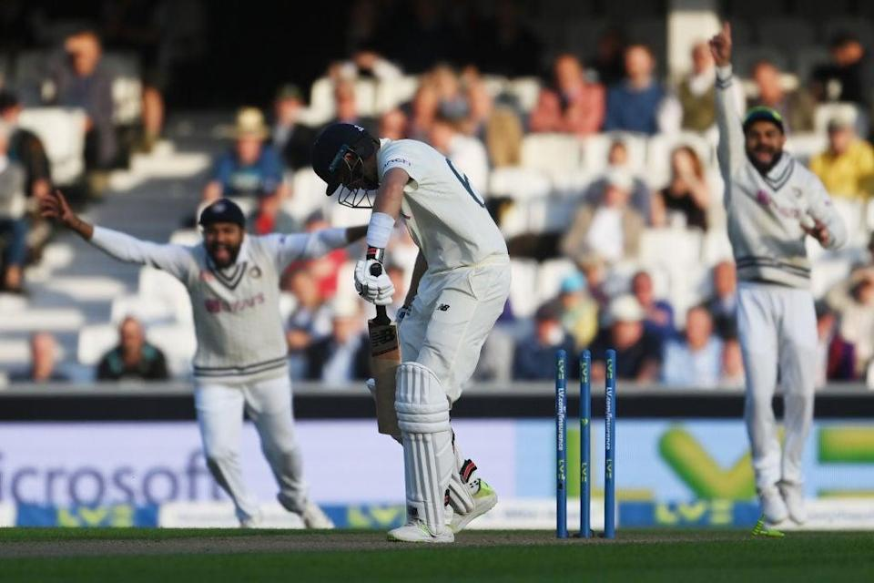 Root was bowled by India's Umesh Yadav to swing the Test's momentum (Getty Images)