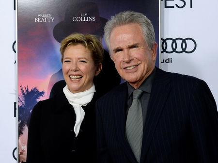 """Producer/director Warren Beatty and cast member Annette Bening arrive at the premiere of """"Rules Don't Apply"""" during the opening night of AFI FEST 2016 in Hollywood, California, U.S. November 10, 2016.  REUTERS/Kevork Djansezian"""