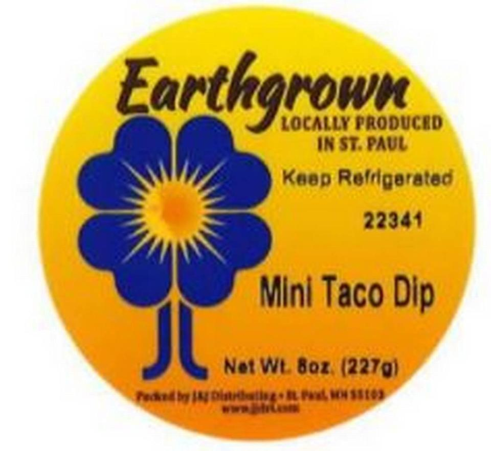 Earthgrown Mini Taco Dip label