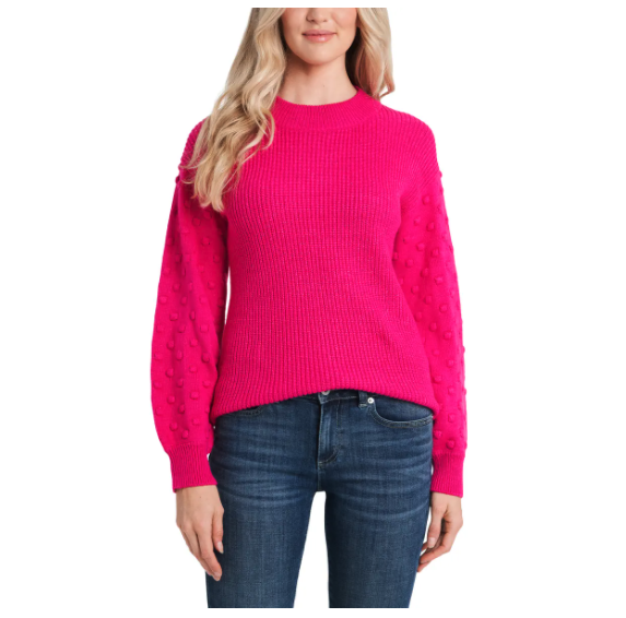 CeCe Puff Sleeve Bobble Ribbed Sweater. Image via Nordstrom.