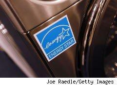 Energy Star label on an appliance