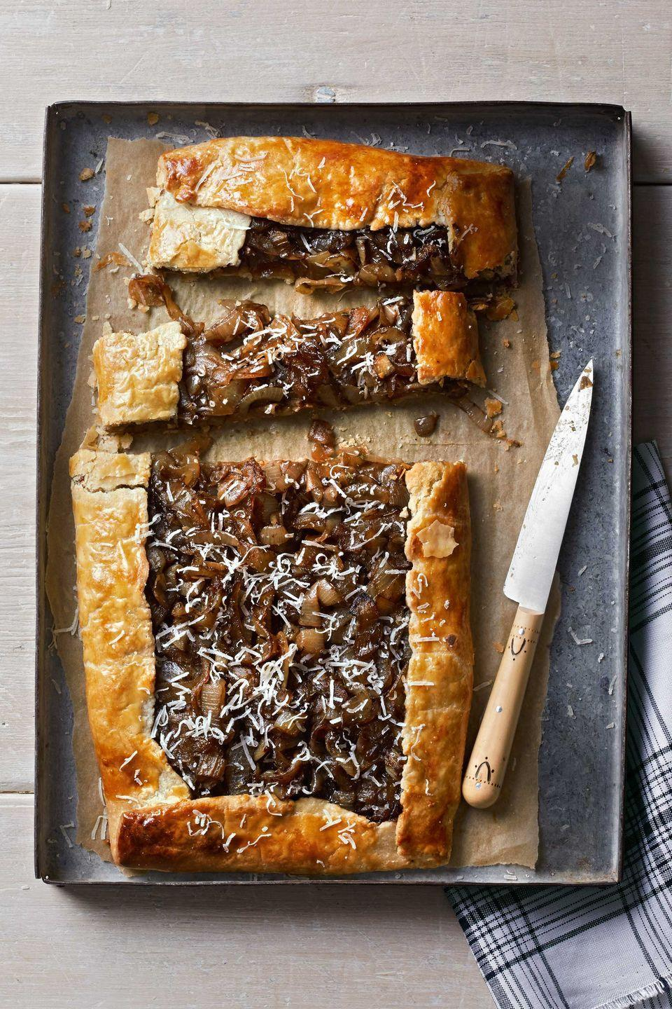 "<p>Dijon mustard gives this dish—which can serve as a starter or a side—a kick.</p><p><strong><a href=""https://www.countryliving.com/food-drinks/recipes/a4562/caramelized-onion-galette-recipe-clx1113/"" rel=""nofollow noopener"" target=""_blank"" data-ylk=""slk:Get the recipe"" class=""link rapid-noclick-resp"">Get the recipe</a>.</strong></p>"